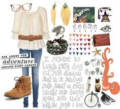 """Boho Autumn"" by lovefromerin ❤ liked on Polyvore"