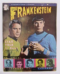 Castle of Frankenstein Star Trek Cover 1969 No. 14 by worldvintage