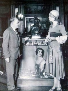 Max Factor and Anita Page in the Max Factor salon - c. early 1930's