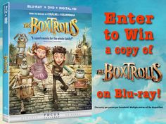 Who knew Box-wearing creatures could be so lovable! We're giving away 5 BLU RAY copies of #THEBOXTROLLS DVD #giveaway #familyfilm #kidsfilm