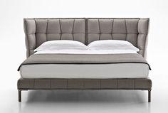 Doppelbett / modern / gepolstertem Kopfteil / Polster HUSK B&B Italia