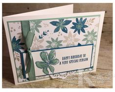 "Faithful INKspirations: Blissful Birthday is made with Stampin' Up's ""Penned & Painted"" and ""Oh So Succulent"" stamps sets and Bliss & Blooms Designer Series Paper. Birthday Photos, Birthday Cards, Some Ideas, Petunias, Paper Size, Card Stock, Bliss, Stampin Up"