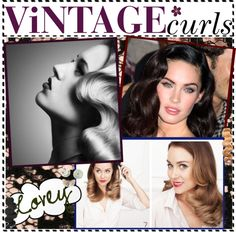 """""""How to Do Vintage Curls/Waves"""" by the-tip-jarxx ❤ liked on Polyvore"""