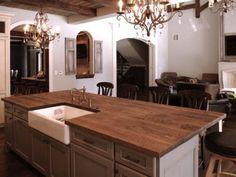 reclaimed Oak beams were used to make this beautiful island top. The patina of each piece was carefully preserved to enhance the natural antique appearance. The top was finished with Hardwax Oil in natural color. Reclaimed Kitchen, Table For 12, Patina Color, Red Oak, Beautiful Islands, Beams, Countertops, Kitchen Island, Hardwood
