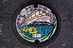 art design | street art | manhole cover | japan | kariya