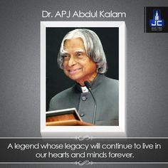 A teacher, a scientist, a leader, a visionary and a man who dedicated his life to the country - Dr. Avul Pakir Jainulabdeen Abdul Kalam lived a life of substance. His life is an example of greatness and impeccable spirit. Our deepest condolences on the sad demise of the people's president who has, and who will continue to inspire millions. May his soul rest in peace.