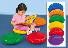 Soft Seats - Set of 6 How cool are these? A seat for everyone and personal space too. #BacktoSchool