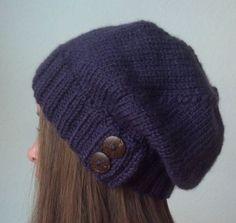 Purple knit hat - STEPHANIE'S CHOICE