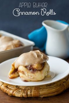 Apple Butter Cinnamon Rolls {Tastes of Lizzy T}