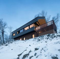 A Rural Home On A Rugged Hillside By naturehumaine Chalet Style, Gable Roof, Mountain Homes, Minimalist Home, Building Design, Exterior Design, Minimalism, House Design, Architecture