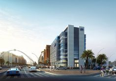 Mid-rise Office Buildings Visualization on Behance