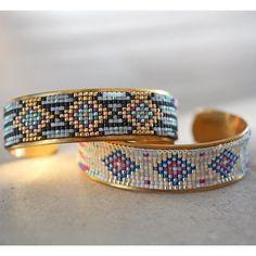DIY   Do it yourself   By Isnata: DIY - Tutoriel : Bracelet en perles tissé Navajo et Azteque fabriqué avec un métier à tisser