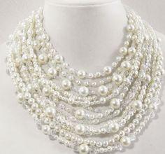 SALE was 88.00 Wedding jewelry Cream pearl by CasualBlingandPPC
