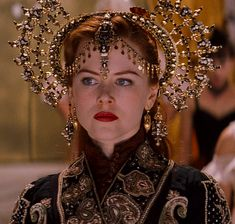 Satine (Nicole Kidman) 'Moulin Rouge!' 2001. Rehearsal gown and headdress. Costume designed by Catherine Martin and Angus Strathie.
