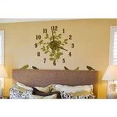 Birds and Branches Clock - Peel and Stick Wall Decal - Girls College Dorm Wall Decoration