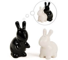 Naughty Rabbit Salt and Pepper Shakers $15
