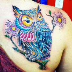 Owl tattoo. Cover up. I absolutely LOVE this!