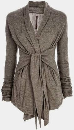 Gray Light Weight Wrap Up Cardigan