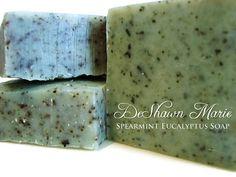 SOAP Spearmint Eucalyptus Soap  Cold Process Soap  by DeShawnMarie