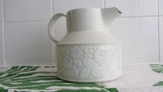 """EVE MIDWINTER - Midwinter Pottery, Stonehenge line - """"Winter"""" pattern - Cacao Jug/Pitcher - Made in England - 1970s"""