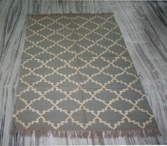 Handmade Moroccen Wool Jute Kilim Rug! Handwoven Area Carpet Rug Rugs Dhurrie  #Handmade Kilim Rugs, Rugs On Carpet, Jute, Hand Weaving, Wool, Contemporary, Antiques, Handmade, Home Decor
