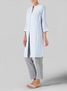 MISSY Collection - Linen Double Layers Long Top