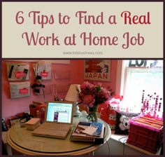 6 Tips to Find a REAL Work at Home Job - Thinking Outside The Sandbox