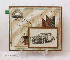 Открытка Скрапбукинг Аппликация Две мужские открытки Бумага фото 1