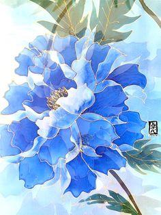 Hand Painted Silk Shawl ETSY asap Silk Scarf by SilkScarvesTakuyo