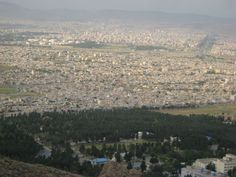 city of kermanshah aerial view from taghbostan mountain, Iran |@figandquince (Persian food culture blog)