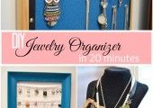 DIY Jewelry Organizer- Eyelet Lace - At Home With The Barkers