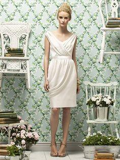 Lela Rose - Style LR178. White on White