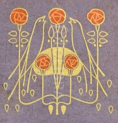 56 ideas tattoo rose vintage art nouveau for 2019 Charles Rennie Mackintosh, Arts And Crafts Movement, Art Deco Tattoo, Art Nouveau Illustration, Jugendstil Design, Glasgow School Of Art, Morris, Art Deco Pattern, Art Nouveau Design