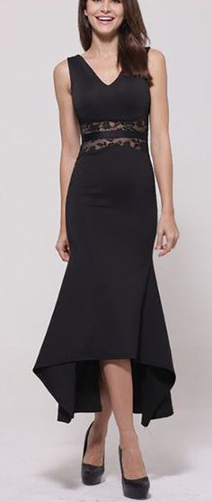 Black Lace Panel Dress == @scrapwedo