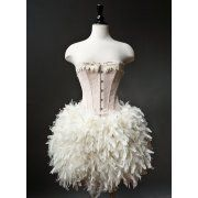 Feather Corset Dress love this for a ballet dance!