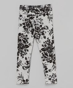 Look at this Gray Floral Leggings - Infant, Toddler & Girls on #zulily today!