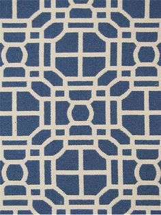 """Jaclyn Smith Fabric 02602 Indigo.  Jaclyn Smith Home Fabric - Geometric lattice jacquard fabric, Durable, 35,000 double rubs, perfect for upholstery fabric, drapery fabric, headboards, bedspreads or pillow covers. 72% cotton / 28% poly. 4.5"""" repeat. 54"""" wide."""