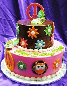 Peace Sign Birthday Cakes