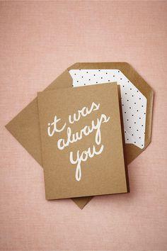 It Was Always You Card by BHLDN