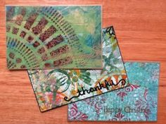 Michelle has created lovely postcards and shares the process with you here ~ http://www.mixedmediaart.net/mixed-media-inspiration-2/mixed-media-postcard-art-online-tutorial ~ Using gesso and acrylic paints to create postcard art