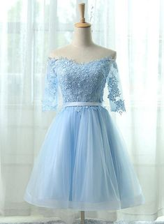 Beautiful Prom Dress, elegant homecoming dresses a line homecoming dresses light blue homecoming dresses off shoulder homecoming dresses short prom dresses party gowns Meet Dresses Light Blue Homecoming Dresses, Modest Homecoming Dresses, Light Blue Dresses, Prom Party Dresses, Modest Dresses, Pretty Dresses, Beautiful Dresses, Party Gowns, Light Blue Quinceanera Dresses
