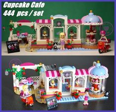10496 Friends Heartlake Cupcake Cafe model Building kit Blocks Brick Girls birthday Toy Compatible legoes friends gift kid set