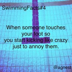 Swimming quotes funny facts by essie Swimming Funny, Swimming Memes, I Love Swimming, Swimming Tips, Swimming Diving, Sea Diving, Funny Swimming Quotes, Diving Suit, Cave Diving