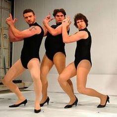 were the dancers LOL  Dance biscuit! unrestrained-nerdiness