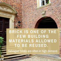 Brick can be reused! #masonry #brick #recycle