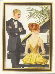 J.C. Leyendecker, Kuppenheimer Style Booklet, interior illustration art, 1918, 1919. From the collection of Tony Peters.