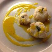Bocconcini di rana pescatrice al limone e zafferano