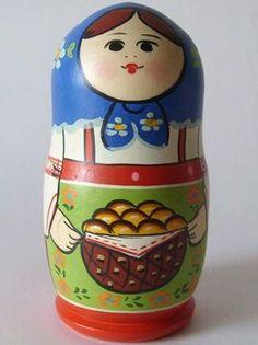 Matryoshka - Russian nesting doll. #Russian #folk #art #matryoshka