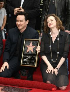 Joan Cusack lends her support to brother John Cusack as he receives a star on the Hollywood Walk of Fame.