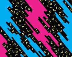 Neon 80s Pattern 0435 94bc